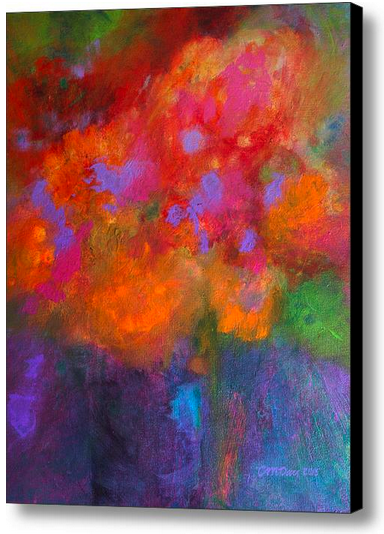 """""""Fleurs Laughing,"""" a painting by CMDay, is available for purchase from Salz Store"""