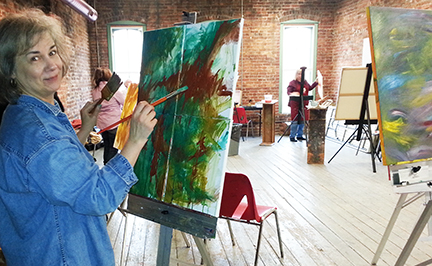 Sally Wright Day, Ruth Gilmore Langs, Ann Arbor Art Center, Abstract Painting Class